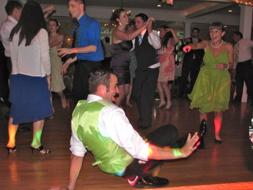 Fun Groom on Wedding Dance Floor with Fun Rhode Island Wedding DJ