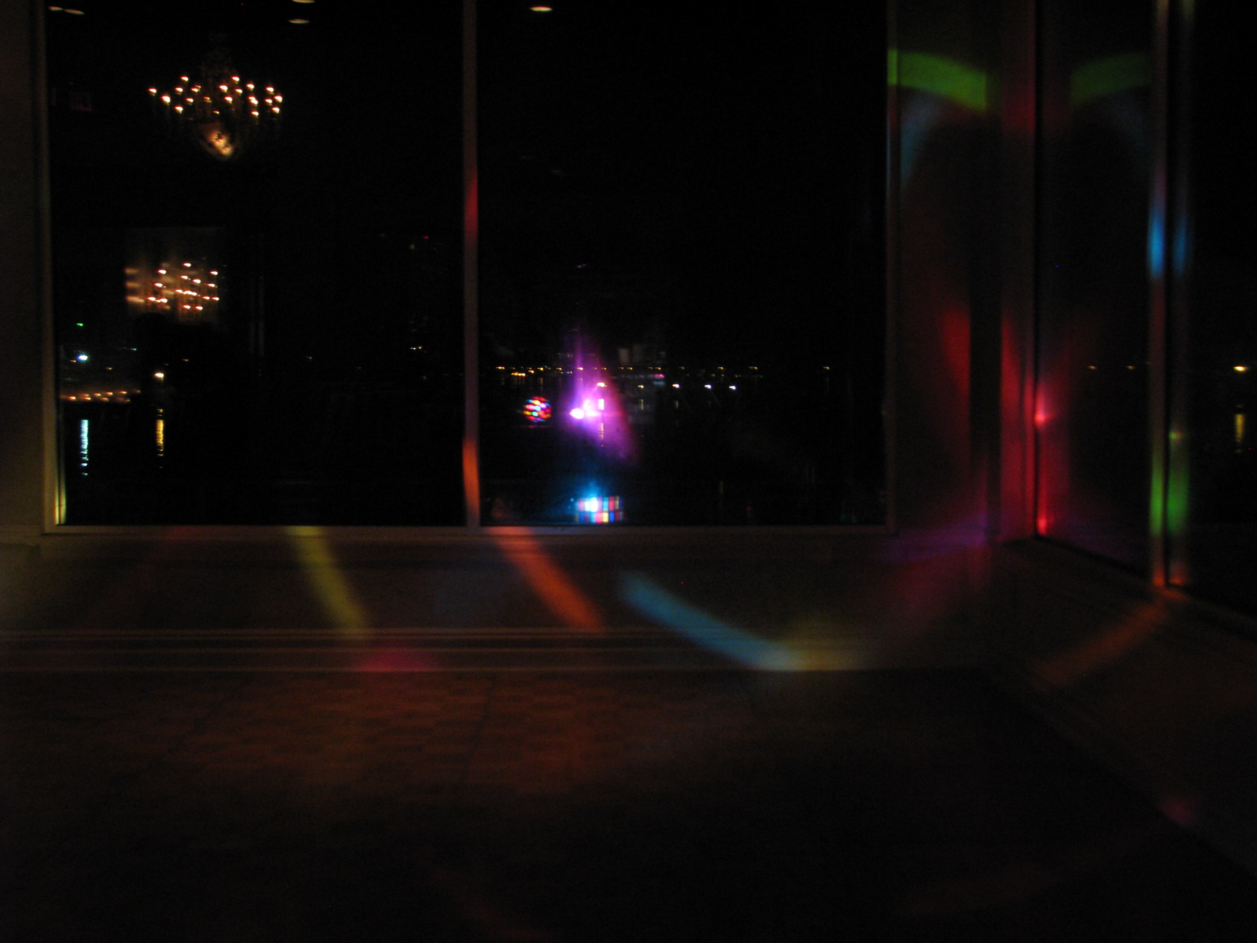 DJ Party Lights at Fun Multicultural Wedding DJ at The View On The Hudson