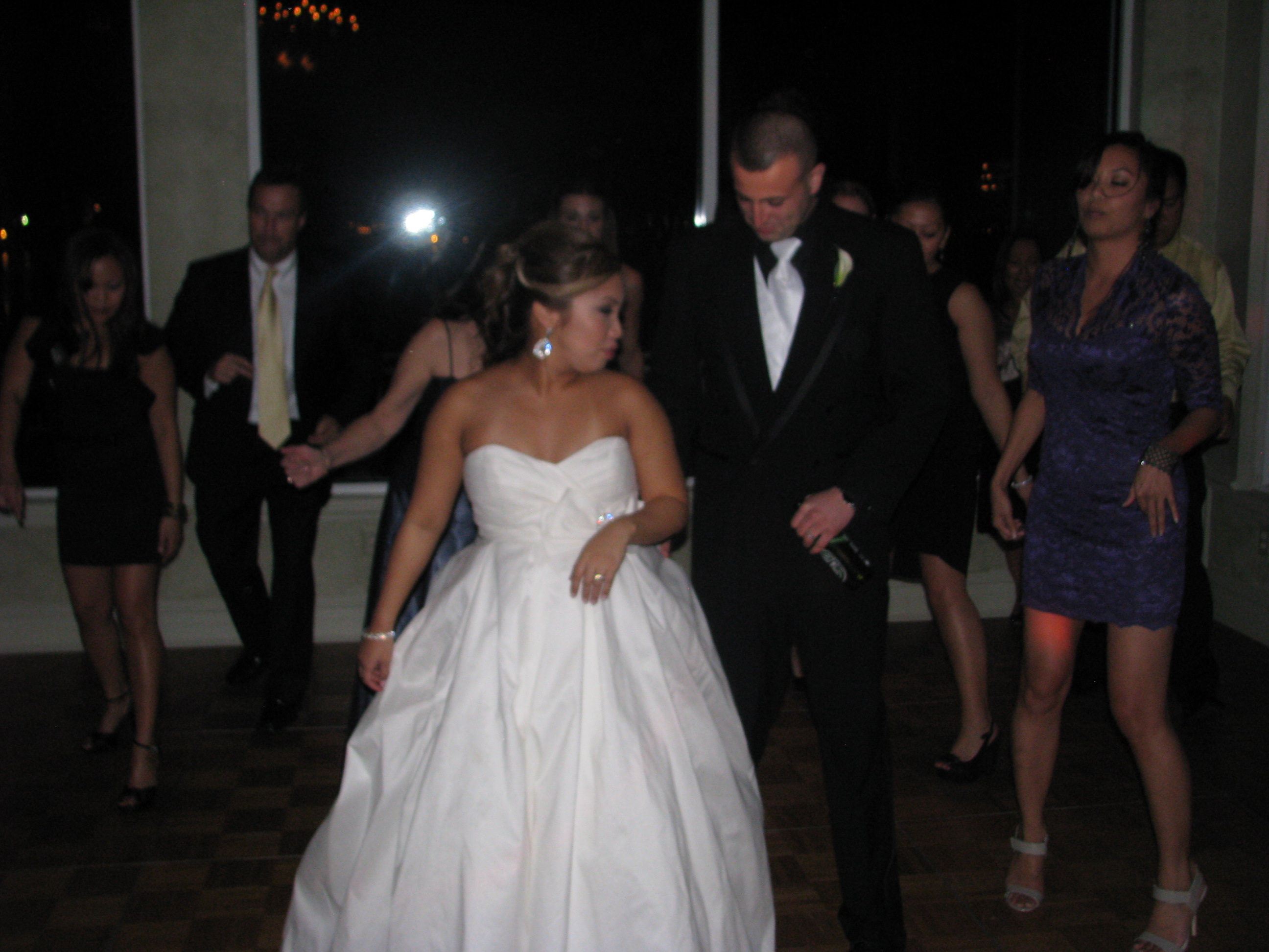 Bride and Groom Party with Happy Couple Dancing with Fun Multicultural Wedding DJ at The View On The Hudson