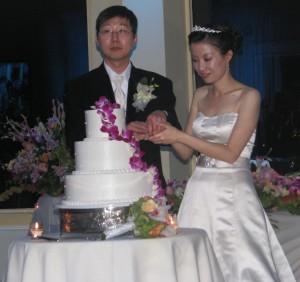 Cake Cutting Beautiful New Jersey Korean Wedding DJ