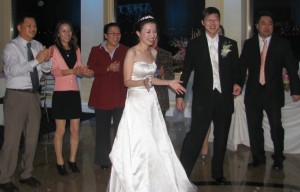 Fun Bride Dancing at Beautiful New Jersey Asian Wedding DJ