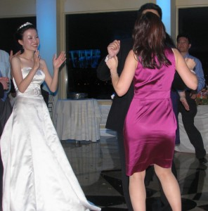 Bride and Friends Fun Dancing at Beautiful New Jersey Asian Wedding DJ