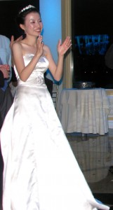 Happy Bride Dancing at Beautiful Rhode Island Wedding DJ