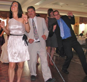 Happy Friends and Family Dancing with Fun Rhode Island Multicultural Wedding DJ