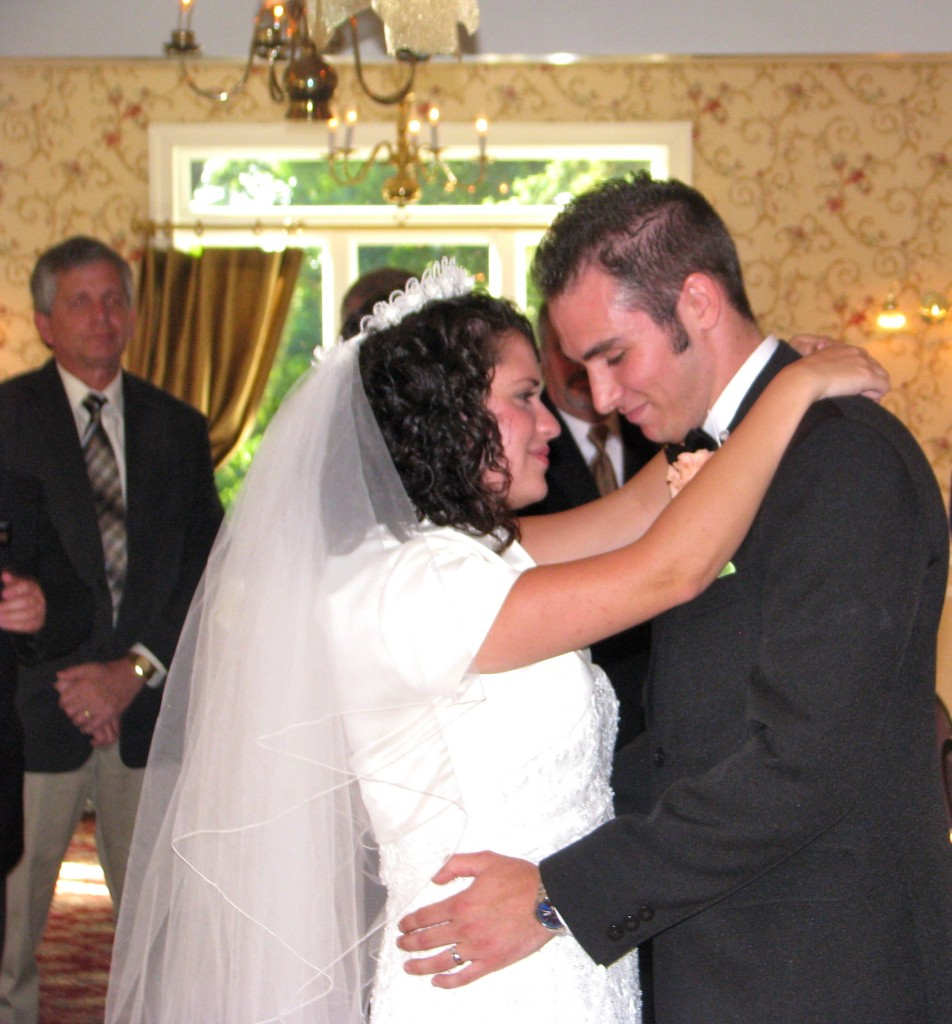 Bride and Groom First Dance at Beautiful Wedding