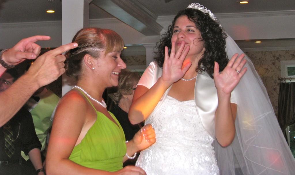 Happy Bride Dancing with Amazing Wedding DJ