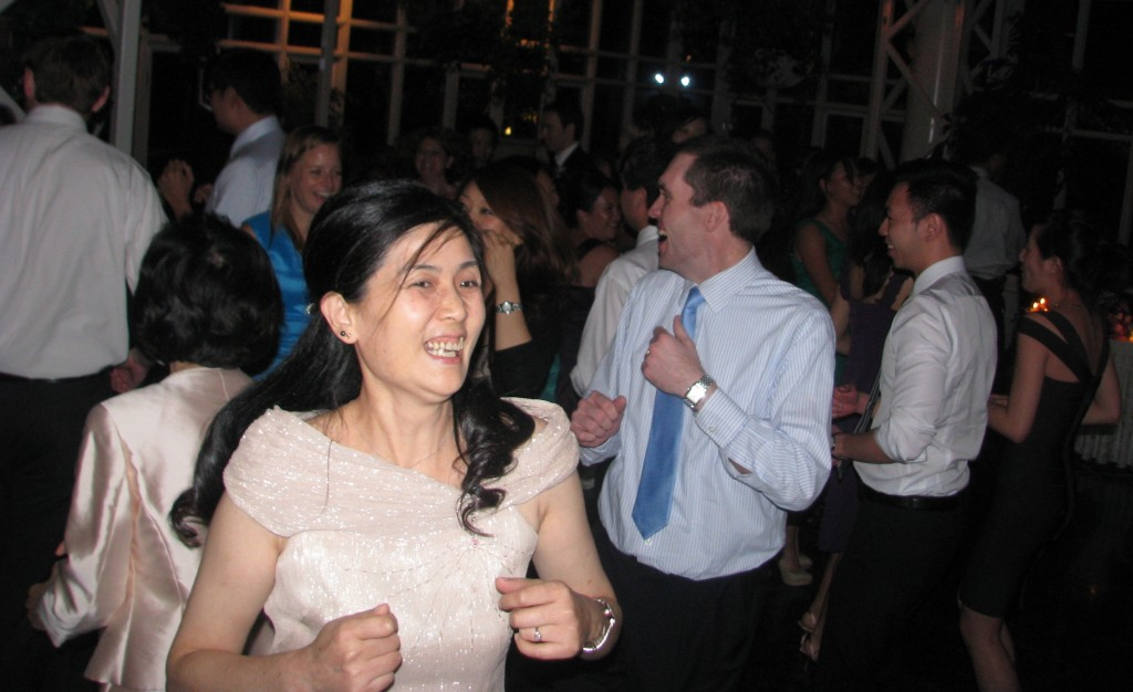 Bride and Groom  Dancing with Fun Asian Rhode Island Wedding DJ at Madison Hotel Morristown