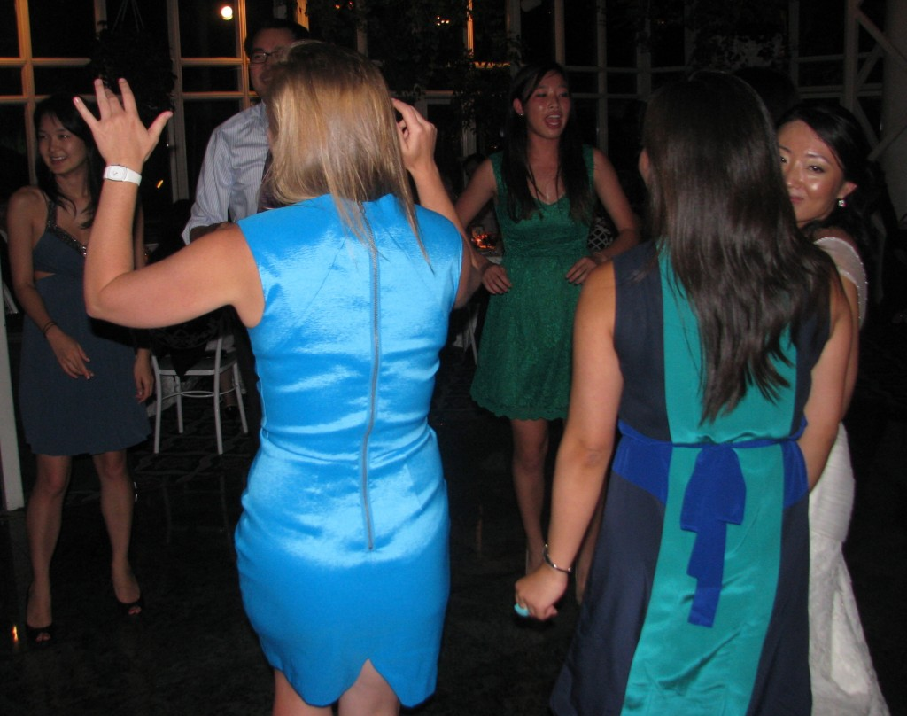 Bride and Groom  Dancing with Fun Multicultural Rhode Island Wedding DJ at Madison Hotel Morristown
