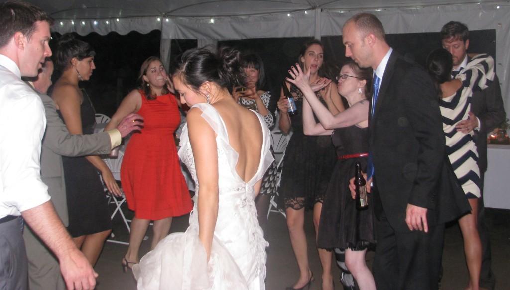 Fun Bride Dancing with Rhode Island Multicultural Wedding DJ