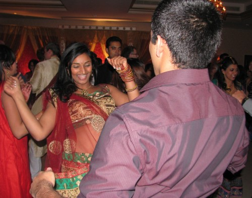 Woman and Man Dancing at Fun Wedding with Fun Rhode Island Multicultural Wedding DJ