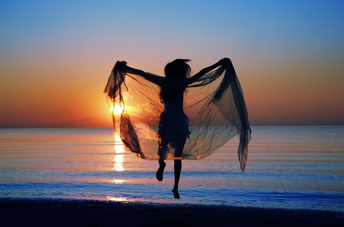 Dancing Woman at Beach Sunset Boyz II Men A Song For Mama