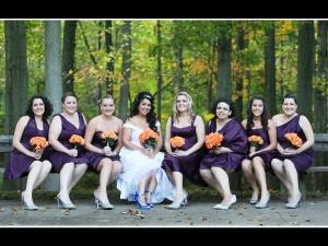 Bride and Bridesmaids at Fun Rhode Island Wedding DJ
