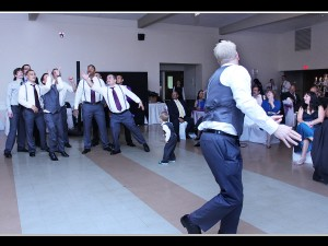Groom Garter Toss with Fun Rhode Island Wedding DJ