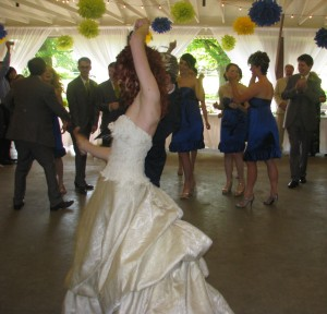 Beautiful Bride Dancing with Fun Rhode Island Wedding DJ