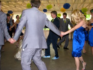 Bridal Party and First Dance at Beautiful Rhode Island Wedding DJ at Rutgers Gardens