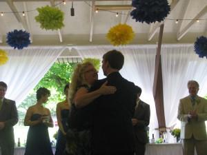 Mother Son Dance at Beautiful Rhode Island Wedding DJ at Rutgers Gardens