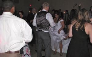 Fun Bride and Groom Dancing with Rhode Island Wedding DJ
