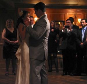 Bride and Groom First Dance with Rhode Island Wedding DJ