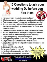 15 questions to ask your wedding dj by Rhode Island Wedding DJ