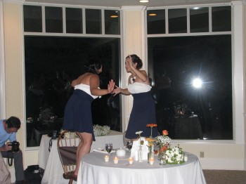Bridesmaids Fun Wedding Dancing with Rhode Island Wedding DJ