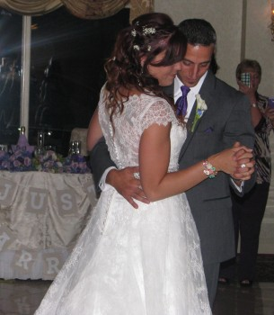 Bride and Groom First Dance with Rhode Island Wedding DJ at The English Manor