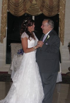 Bride and Father Dance with Rhode Island Wedding DJ at The English Manor