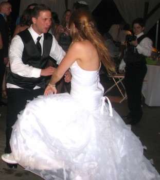 Providence wedding DJ - Rhode Island Wedding DJ - Beautiful Outdoor Wedding - Rutgers Gardens DJ - Massachusetts Wedding DJ - Happy bride - Fun Bride